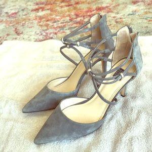 White House black market grey heels